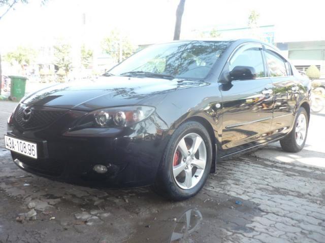 Xe Mazda 3 đời 2005, màu đen, nhập khẩu nguyên chiếc, xe gia đình