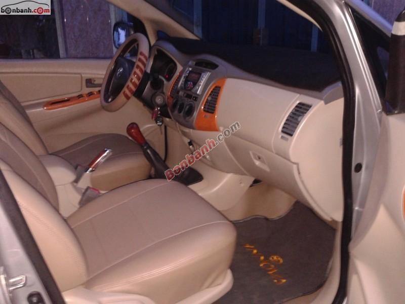 Cần bán lại xe Toyota Innova đời 2007, màu bạc, giá 410tr