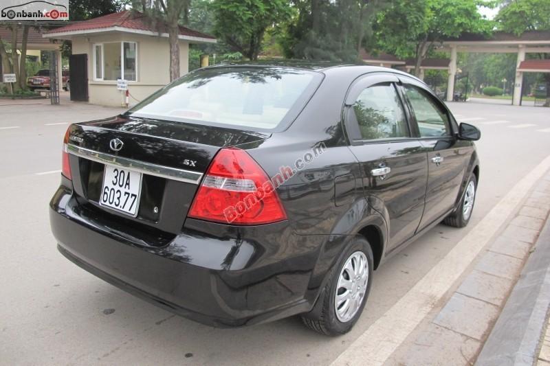 Cần bán Daewoo Gentra 1.5MT đời 2008, màu đen