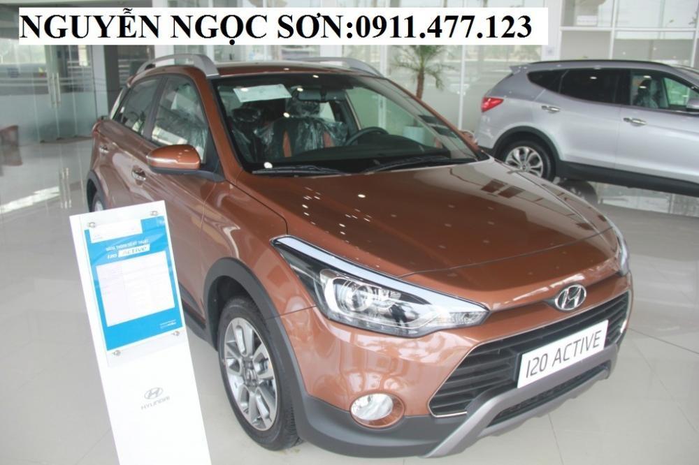 Bán xe Hyundai i20 Active 2016, màu nâu, nhập khẩu, giá tốt