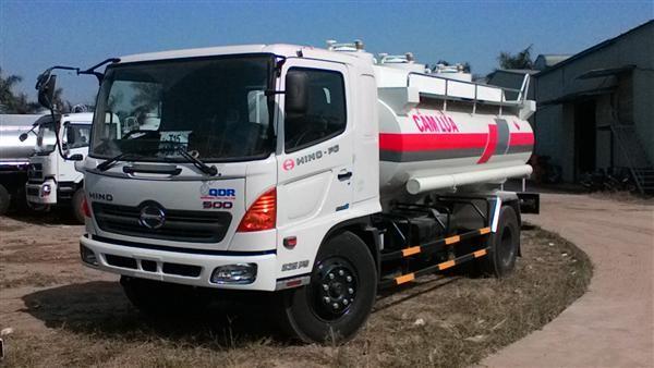 Bán xe bồn Hino 8 tấn chở xăng 11 khối, xe Hino FG8JJSB bồn chở xăng dầu, Xe bồn Hino FG chở xăng