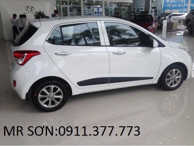 Bán ô tô Hyundai i10 mới 2016, màu trắng, nhập khẩu chính hãng, 358 triệu. Lhệ: Ngọc Sơn: 0911.377.773