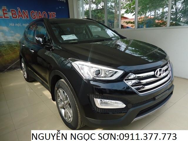 Cần bán Hyundai Santa Fe mới đời 2016, màu đen, nhập khẩu chính hãng