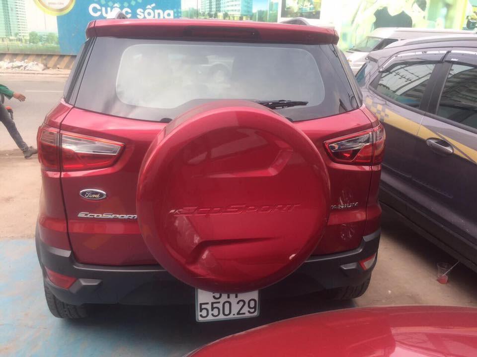 Cần bán lại xe Ford EcoSport Titanium 2016, màu đỏ giá cạnh tranh