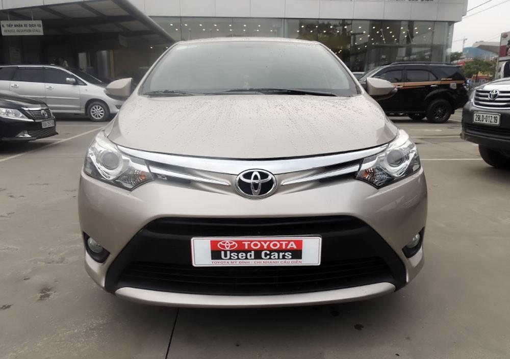 Cần bán lại xe Toyota Vios G 2016, màu vàng cát
