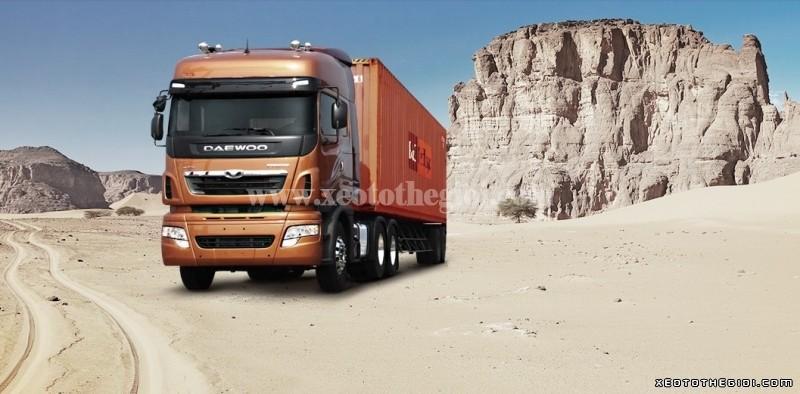 Daewoo 2 cầu 340 V3TEF 45 tấn đầu kéo Nhập khẩu từ Hàn Quốc mới 100%