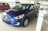 Cần bán Hyundai Accent 1.4AT đời 2015, màu xanh, xe nhập giá 600 triệu tại Hà Nội