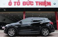 Bán Hyundai Santa Fe CRDi 2.2AT sx 2013, màu đen, nhập khẩu giá 1 tỷ 190 tr tại Hà Nội