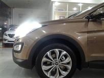 Bán xe Hyundai Santa Fe đời 2015, màu nâu