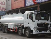 Xe tải xitec chở xăng dầu Howo 20 khối (20m3) máy 340Hp, Mua xe bồn chở xăng dầu Howo 21 khối (21m3)