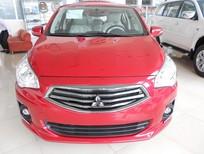 Bán xe Mitsubishi Attrage CVT 2016, màu đỏ, nhập khẩu chính hãng