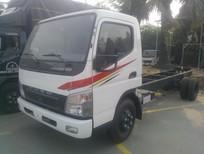 Mua xe tải Canter 5.2 tấn/5t2 trả góp, Fuso canter 5.2 tấn thùng bạt giá rẻ