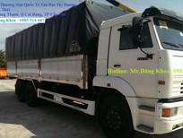 Bán xe tải thùng Kamaz mui bạt, 14 tấn, nhập khẩu, mới 100%