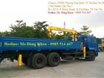 Cần bán xe thùng Kamaz có cẩu 5 tấn, 3 chân, 2 cầu sau, tải 12 tấn, nhập khẩu chính hãng, mới