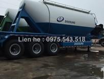 Xe sơ mi rơ mooc bồn chở xi măng rời, xi măng xá 33 tấn Doosung 2016