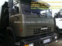 Bán xe Ben Kamaz, đời 2015,14 tấn, màu xanh quân đội, 3 chân, 240 mã lực, nhập khẩu, mới