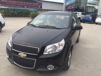 Bán xe Chevrolet Aveo 1.5 MT 2016, màu đen, giá chỉ 445 triệu