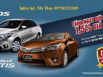 """Toyota Altis + Vios khuyến mại giảm """"Cực khủng"""". Tặng 01 năm Bảo hiểm thân vỏ. LH Huy 0978329189"""