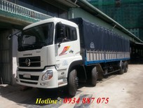 Xe tải Dongfeng Hoàng Huy 4 chân 18 tấn 17.9 tấn đời 2016 thùng mui bạt inox loại mới