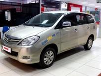 Cần bán lại xe Toyota Innova G 2.0MT đời 2009, màu vàng số sàn