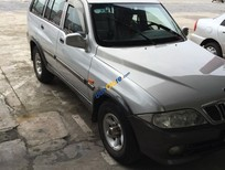 Cần bán xe cũ Ssangyong Musso sản xuất 2002, màu bạc, giá 220tr