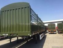 Sơmi rơ mooc CIMC thùng bửng 3 trục thùng 12.4m có thùng mui phủ, hàng nhập khẩu nguyên chiếc.