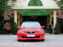 Cần bán lại xe Mazda 6 2.0 MT 2004, màu đỏ, 315 triệu
