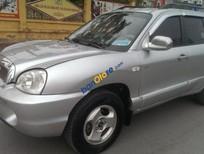 Cần bán lại xe Hyundai Santa Fe Gold sản xuất 2003, màu bạc