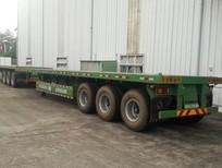 Tổng đại lý bán Rơ mooc sàn 40 feet 3 trục rút hiệu Doosung, mooc sàn Hàn Quốc