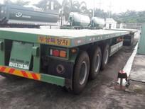 Rơ mooc sàn Doosung loại 3 trục, 1 trục nâng hạ tải trọng cao 32 tấn