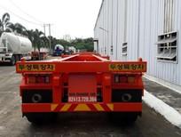 Moóc xương Doosung Hàn Quốc chở container tải trọng  33.1 tấn, 3 trục mới 100%