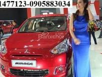Cần bán Mitsubishi Mirage mới 2016, màu đỏ, nhập khẩu nguyên chiếc, Lh: Lê Nguyệt: 0905.883.034