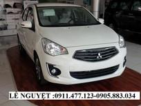 Cần bán xe Mitsubishi Attrage mới 2016, màu trắng, xe nhập - Lh Lê Nguyệt: 0905.883.034