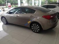 Bán xe Kia Cerato MT màu vàng cát 2015 chính hãng Kia, trả góp giá chỉ từ 210tr tại Hải Phòng 0936657234