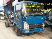 Bán xe tải veam vt252-1 2.4 tấn thùng dài 4m1 / veam vt252 2t4 đời mới 2016