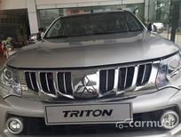 Cần bán Mitsubishi Triton 2016, màu bạc, nhập khẩu nguyên chiếc