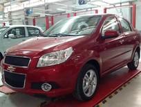 Cần bán Chevrolet Aveo LTZ 2017, màu đỏ, KM 40 tr, hỗ trợ vay nhanh chóng, lãi suất hấp dẫn