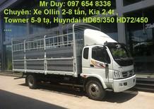 Giá mua xe tải Thaco OLLIN 700B tải trọng 7 tấn, xe OLLIN nâng tải 7 tấn MỚI 2016