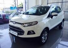 Mua xe Ford ở đâu rẻ nhất. Ford EcoSport Titanium đời 2016, màu trắng giao ngay giá tốt, hỗ trợ vay 80%