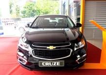 Cần bán xe Chevrolet Cruze LTZ 2017, màu đen,hỗ trợ vay nhanh chóng.