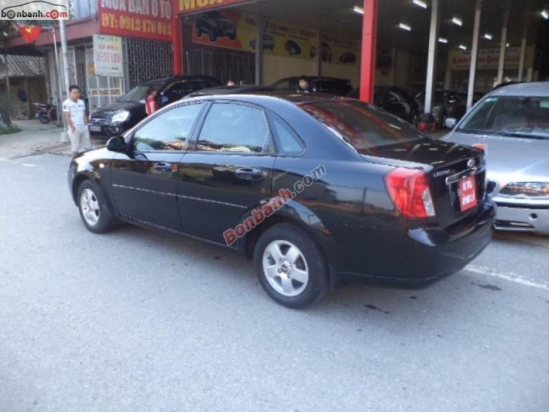 Cần bán xe Chevrolet Lacetti EX 1.6 năm 2012, màu đen