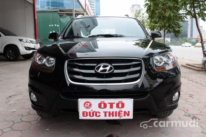 Bán ô tô Hyundai Santa Fe SLX 2010, màu đen