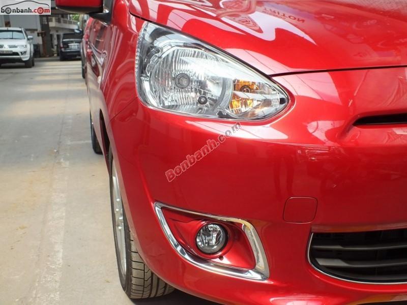 Cần bán xe Mitsubishi Mirage 1.2 CVT đời 2015, màu đỏ, nhập khẩu, 510 triệu