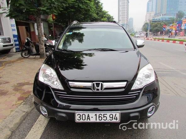 Bán xe Honda CR V 2.0 AT đời 2008, màu đen đã đi 40000 km