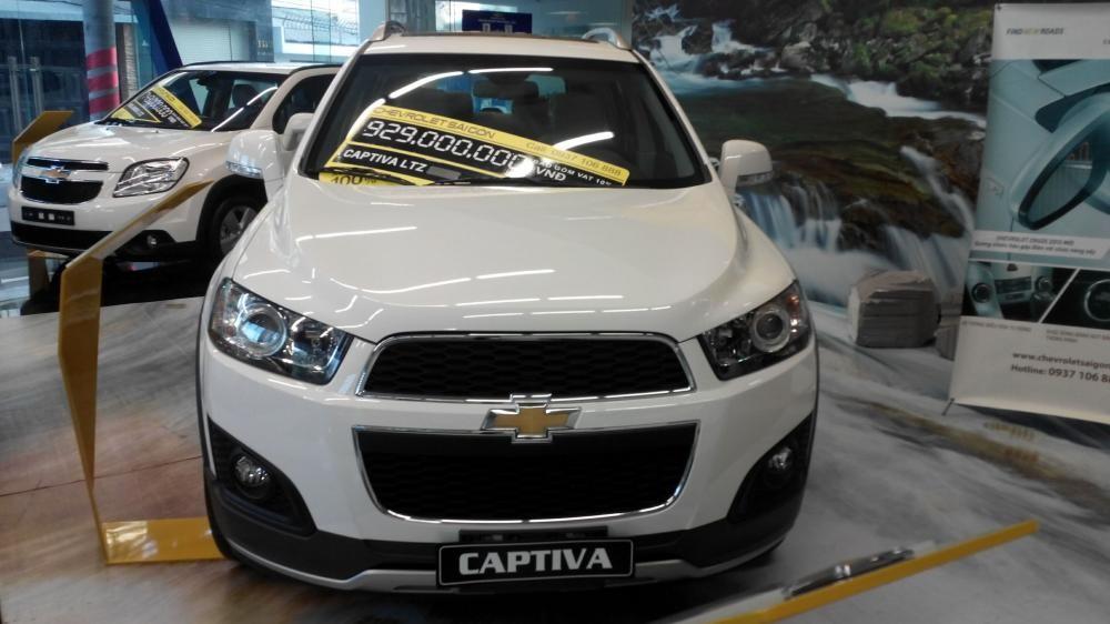 Bán Chevrolet Captiva LTZ năm 2015, màu trắng
