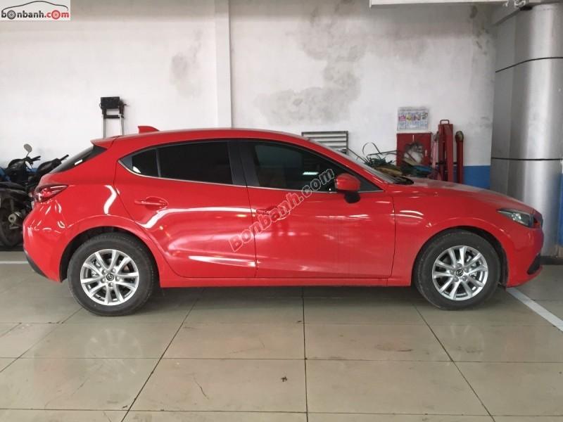 Cần bán Mazda 3 1.5G sản xuất 2015, màu đỏ