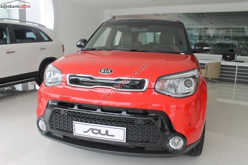 Bán ô tô Kia Soul 2.0 AT 2015, màu đỏ, nhập khẩu nguyên chiếc
