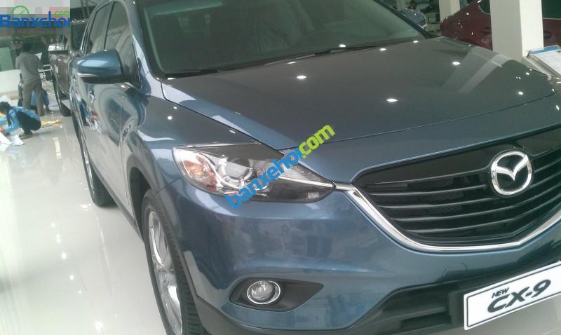 Bán xe Mazda CX 9 đời 2015, màu xanh lam, nhập khẩu
