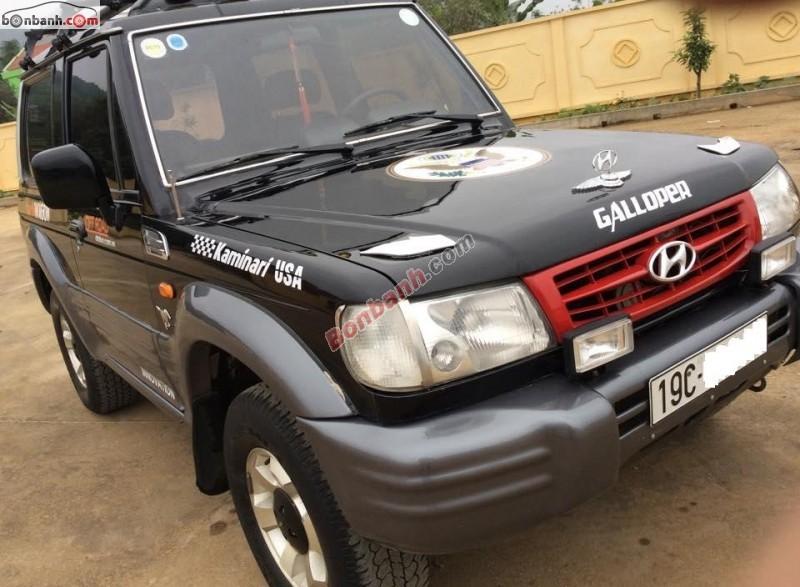 Cần bán Hyundai Galloper đời 2000, màu đen, nhập khẩu Hàn Quốc
