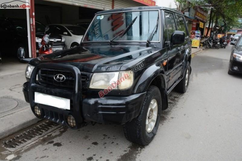 Bán xe Hyundai Galloper 2.5L đời 2001, màu đen, nhập khẩu chính hãng, số sàn giá cạnh tranh
